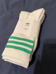 Adidas x Noah - 3 Pack Socks - Pink, Green, Black - size L (9 - 11 )