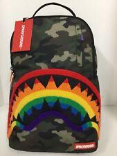 Sprayground Chenille Rainbow Shark Backpack