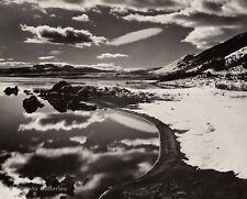 1955 Vintage BRETT WESTON Mono Lake Snow Mountain Landscape Fine Photo Engraving