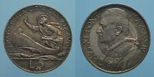 PIO XI RARO 5 LIRE 1935 A.XIV ROMA qFDC