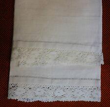 Asciugamani canapa orli a giorno pizzo cm. 84x71 B10 Hemp Towel Serviette ^