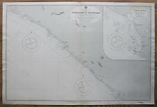 1907 LIBERIA JUNK RIVER TO CESTOS BAY GRAND BASSA VINTAGE ADMIRALTY CHART MAP