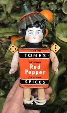 OOAK Steampunk Assemblage ART DOLL Vintage Mix Media Antique China Head 'Pepper'