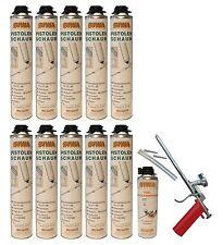 Set Schaumpistole Metall + 10x750ml Pistolenschaum + 500ml Reiniger Bauschaum P3
