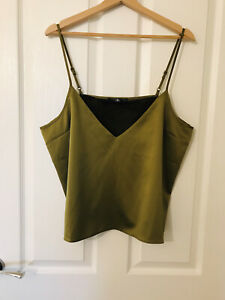 Missguided Satin Camisole Top Size 16