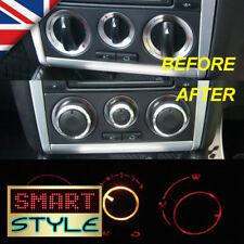 SmartStyle Aluminium Heater Knobs Buttons Set-VW Golf MK4/Polo 6N2/Passat/Bora…