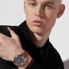 NWT 🖤 Armani Exchange AX2635 Drexler Three Hand Movement Black Dial 44mm Watch