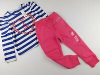 """NWT Gap Toddler Girl's 2 Pc Outfit T-Shirt """"Be Kind""""/ Pink Joggers 12-18M 4 Yrs"""