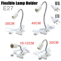 10-40cm E27 Lampe Ampoule Support Flexible Clip Commutateur Pince Socket Douille