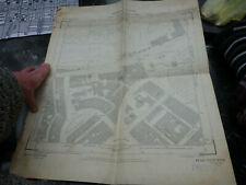 old antique 1951 ordnance survey map Knightbridge London Belgravia Westminster
