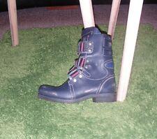 ♥ FLY LONDON ♥ chaussures bottes motard bottines cuir  STIF Navy  36 uk 3 NEUF