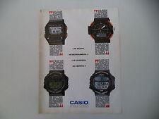 advertising Pubblicità 1989 OROLOGI CASIO BM 100 W/DGW 30/CGW 50/ARW 320