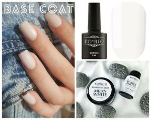 Komilfo Milky White Base Cover White Base Coat Funny Bunny Ombre Polish Nail art