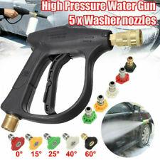 """Car Wash 3/8"""" Inlet 3000 PSI High Pressure Washer Spray Gun + 5 Spray Nozzle Tip"""