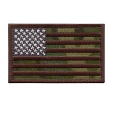 USA American flag multicam embroidered patriotic morale infidel hook&loop patch