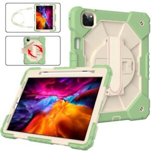 For iPad Pro 11 2021 Air4 Case Multifunction Pen Slot Stand Silicone PC Skin C2
