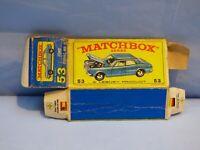 ORIGINAL VINTAGE EMPTY MATCHBOX BOX FOR 53 FORD ZODIAC MK IV TOY CAR