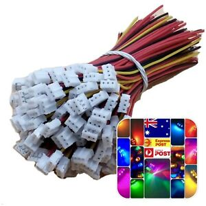20Sets 40pcs Mini Micro JST 2.0mm PH 3-Pin Connector Plug With Wires Cable 20cm