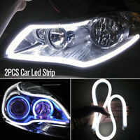 2X Waterproof Car LED Strip Turn Signal Indicator Light DRL Daytime Running 12V!