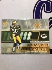 2001 Private Stock Game-Worn Gear Donald Driver #59