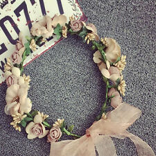Women Boho Flower Floral Hairband Headband Crown Party Bride Wedding Beach Pop