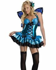Fantasy Fairy Butterfly Costume Dress With Wings Blue Tutu  - XS 0-2 -