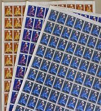 3 x Feuille de 100 timbres Katanga Yvert ou Scott N° 1 2 et 3
