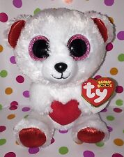 """6"""" Ty Beanie Boo Cuddly the Bear Valentine's Release"""