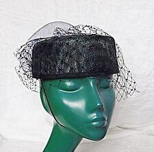 Pillbox Straw Original Vintage Hats for Women