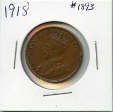 1918 1C BN Canada Large Cent. Almost Uncirculated. Lot #1586