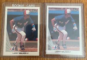 1990 Leaf #325 LARRY WALKER Rookie lot (2) NRMT/MT