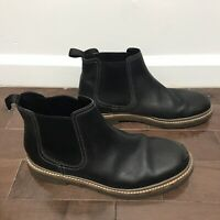 Clarks Atticus Limit Plain Lace Up Chukka Boot Black Nubuck 26136738 Men's US 10