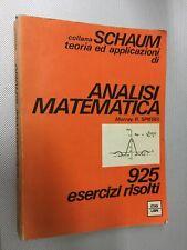 LIBRO ANALISI MATEMATICA MURRAY SPIEGEL SCHAUM ETAS 1975 PRIMA EDIZIONE