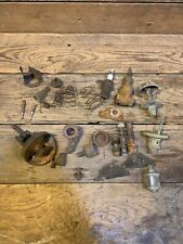Antique Hit & Miss Engine Parts Lot Used Oiler Brass Igniter Springs Ih Johnson