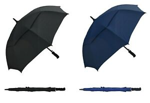 RainStoppers Auto Open Windbuster Sport Umbrella, Navy or Black, 48-Inch