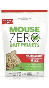 { 2 } Scotts ~ Zero Mouse Bait Pellets ~ 1 Lb Bags ~ Sealed