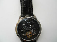 Fossil Twist men's black leather mechanical & Automatic Analog watch.Me-1126