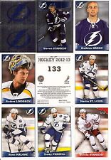 2012-13 Panini Stickers Tampa Bay Lightning Complete Team Set (11)