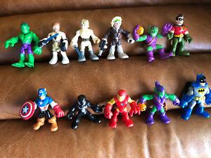 Imaginext & Hasbro Playskool Super Heroes Bundle of Toy Figures