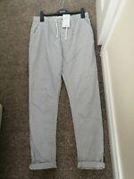 M&S Boys 13-14  Light Grey drawstring trousers Smart Casual boys  Jogging style
