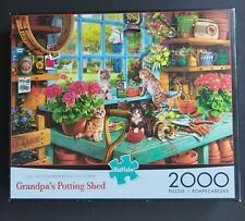 "LIKE NEW Buffalo Games 2000 Piece Jigsaw Puzzle ""Grandpa's Potting Shed"" #92000"