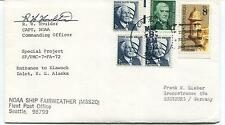 1972 NOAA Ship Fairweather MSS-20 Entrance to Klawock Inlet Houlder Cover SIGNED
