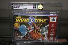 NBA Hang Time (Nintendo 64, N64 1997) H-SEAM SEALED! - VGA 75! - ULTRA RARE!