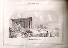 GRECIA,GREECE, Platón,Plato,   grabado original del siglo XIX
