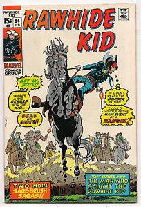 BRONZE AGE MARVEL WESTERN RAWHIDE KID #84 1971 NM- HIGH GRADE - JACK KIRBY ART
