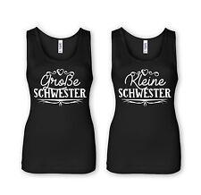 Grosse Schwester + Kleine Schwester -Partner Tops- Sister Geschwister Familie /2