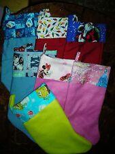 """Handmade Christmas Stocking 7 available styles 17"""" Frozen Santa Princess Mickey"""