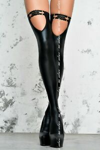 ME SEDUCE ST06 Luxury Super Soft Decorative Wet Look Footless Hold Ups