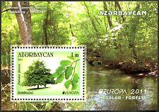L'Azerbaïdjan Azerbaijan Europe CEPT 2011, forêt, bloc ** (Cachet)