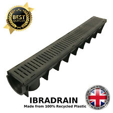 Plastic Drainage Channels for Driveways Linear French Drain Channel UK IBRADRAIN